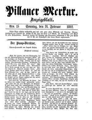 Pillauer Merkur vom 21.02.1892