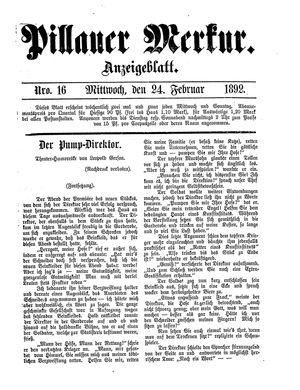 Pillauer Merkur vom 24.02.1892