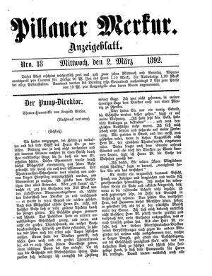 Pillauer Merkur vom 02.03.1892