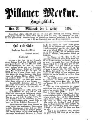 Pillauer Merkur vom 08.03.1892