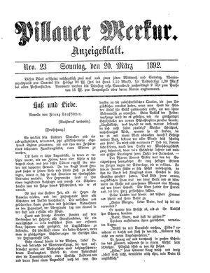 Pillauer Merkur vom 20.03.1892