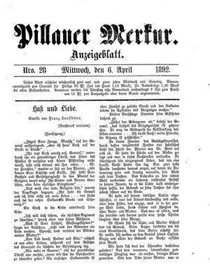 Pillauer Merkur vom 06.04.1892