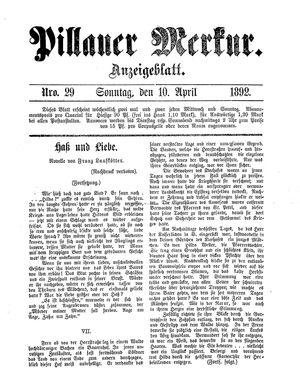 Pillauer Merkur vom 10.04.1892