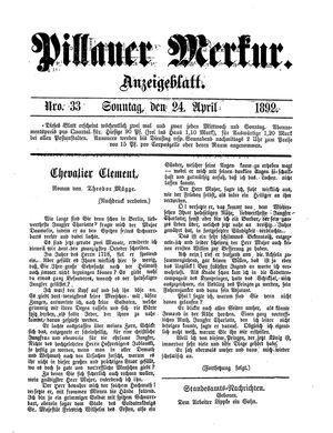 Pillauer Merkur vom 24.04.1892