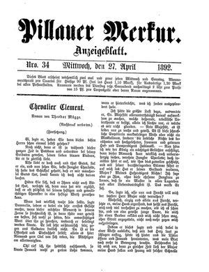 Pillauer Merkur on Apr 27, 1892