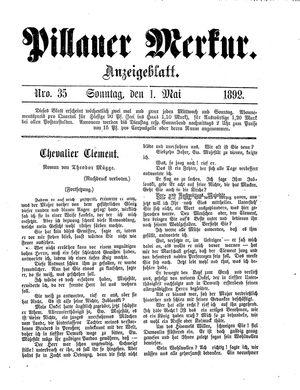Pillauer Merkur vom 01.05.1892