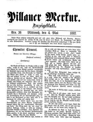 Pillauer Merkur vom 04.05.1892
