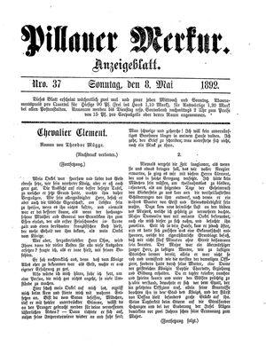 Pillauer Merkur vom 08.05.1892