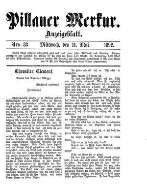 Pillauer Merkur vom 11.05.1892