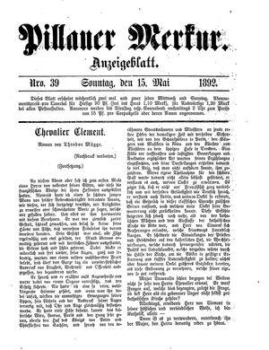 Pillauer Merkur vom 15.05.1892