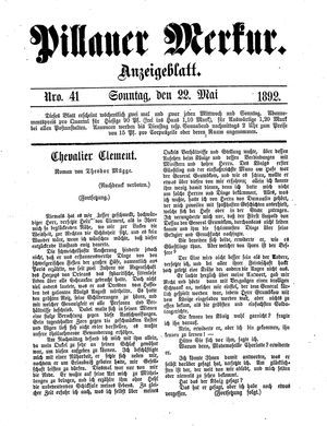 Pillauer Merkur vom 22.05.1892
