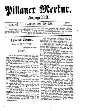Pillauer Merkur vom 29.05.1892