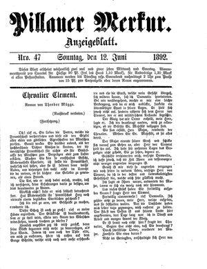 Pillauer Merkur vom 12.06.1892