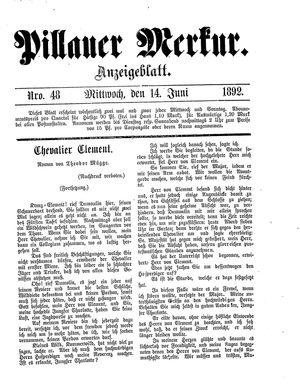 Pillauer Merkur vom 14.06.1892