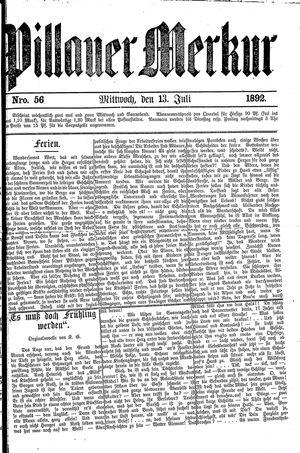 Pillauer Merkur vom 13.07.1892