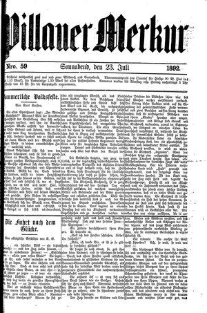 Pillauer Merkur vom 23.07.1892