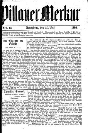 Pillauer Merkur vom 30.07.1892