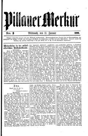 Pillauer Merkur vom 11.01.1899
