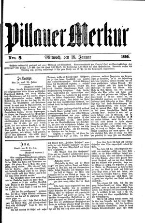 Pillauer Merkur vom 18.01.1899