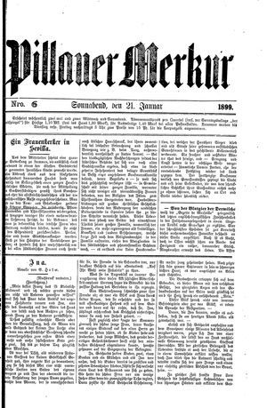 Pillauer Merkur vom 21.01.1899