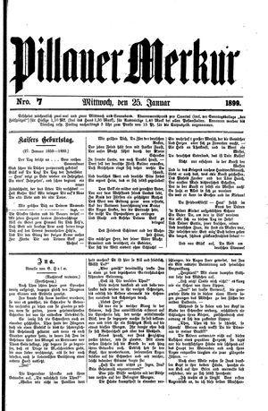 Pillauer Merkur vom 25.01.1899