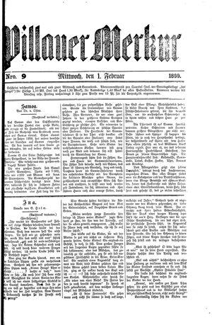 Pillauer Merkur vom 01.02.1899