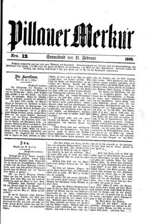 Pillauer Merkur vom 11.02.1899