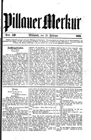 Pillauer Merkur on Feb 15, 1899