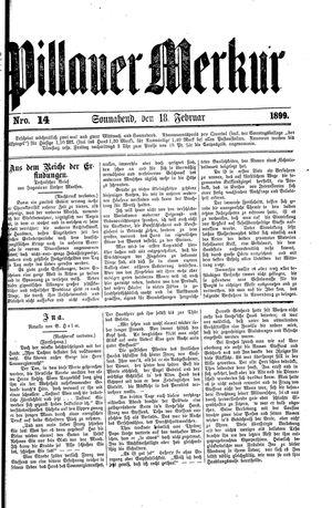 Pillauer Merkur vom 18.02.1899