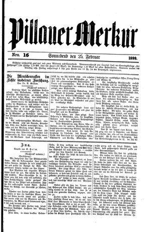 Pillauer Merkur vom 25.02.1899