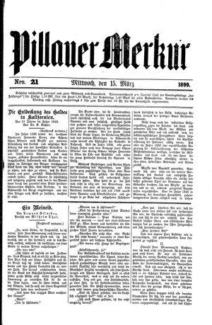 Pillauer Merkur vom 15.03.1899