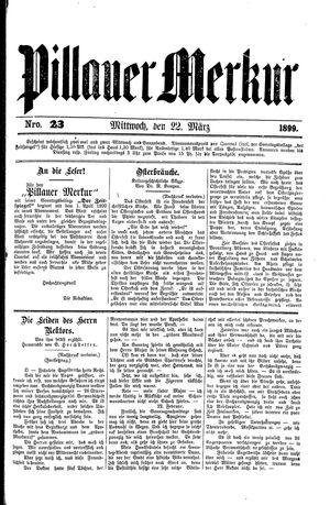 Pillauer Merkur vom 22.03.1899