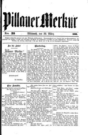 Pillauer Merkur vom 29.03.1899