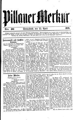 Pillauer Merkur vom 15.04.1899