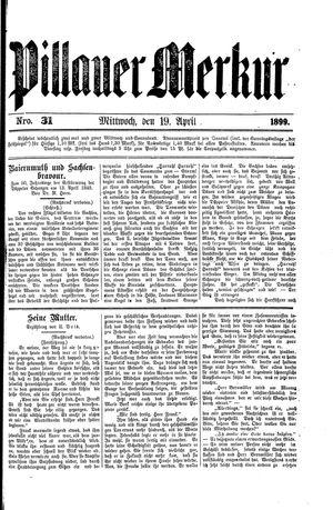 Pillauer Merkur vom 19.04.1899