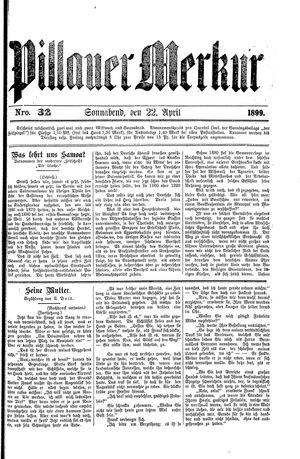 Pillauer Merkur vom 22.04.1899