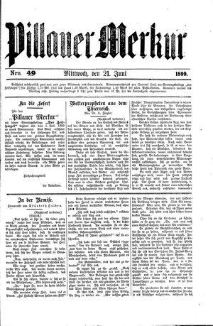 Pillauer Merkur vom 21.06.1899