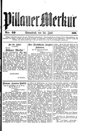 Pillauer Merkur vom 24.06.1899
