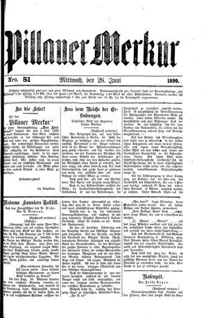 Pillauer Merkur vom 28.06.1899