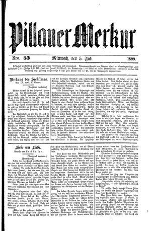 Pillauer Merkur vom 05.07.1899