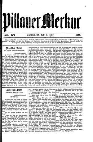 Pillauer Merkur vom 08.07.1899