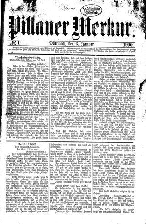 Pillauer Merkur vom 03.01.1900