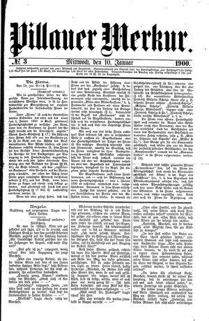 Pillauer Merkur vom 10.01.1900