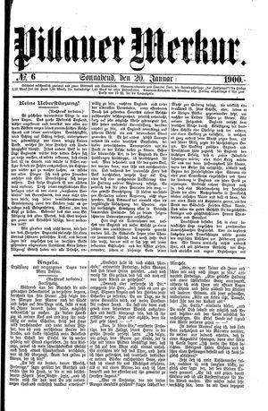 Pillauer Merkur vom 20.01.1900