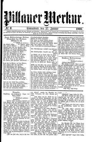Pillauer Merkur vom 27.01.1900