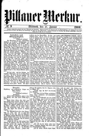 Pillauer Merkur vom 31.01.1900
