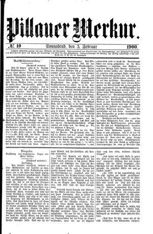 Pillauer Merkur on Feb 3, 1900