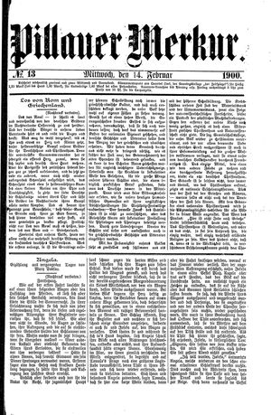 Pillauer Merkur vom 14.02.1900