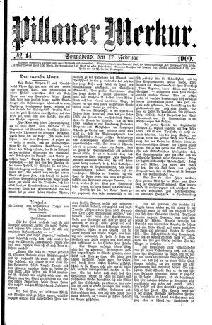 Pillauer Merkur vom 17.02.1900