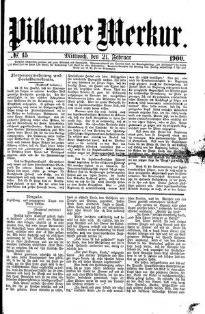 Pillauer Merkur vom 21.02.1900